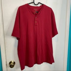LL.Bean 3 1/4 button down pullover red top